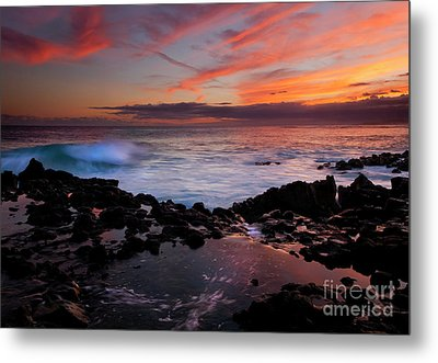 Waves Of Paradise Metal Print by Mike  Dawson