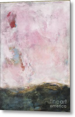 Waves Of Pink Abstract Art Metal Print by Anahi DeCanio