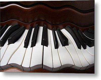 Wavey Piano Keys Metal Print by Garry Gay