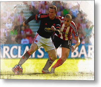 Wayne Rooney Is Marshalled Metal Print by Don Kuing