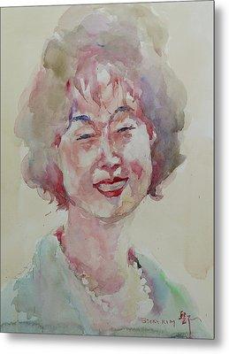 Wc Portrait 1627 My Sister Hyunju Metal Print by Becky Kim