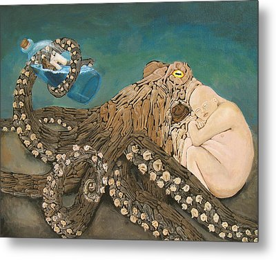 We Are The Kraken Of Our Own Sinking Ships Metal Print by David  Nixon
