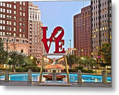We Love Philadelphia Metal Print by Skyline Photos of America