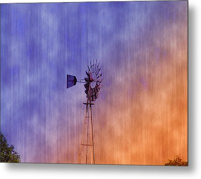Weather Vane Sunset Metal Print by Bill Cannon