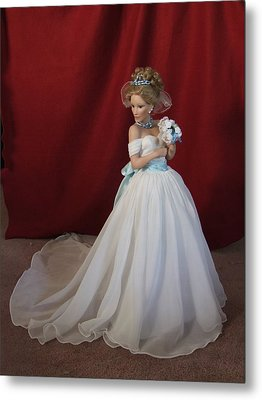 Wedding Gown Metal Print by Chuck Shafer