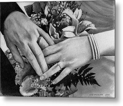 Wedding Hands Metal Print by Doug Strickland