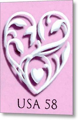 Wedding Hearts Metal Print by Lanjee Chee