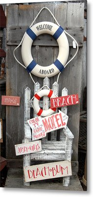 Welcome Aboard Metal Print by Joyce StJames