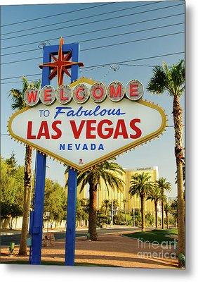 Welcome To Las Vegas Metal Print by Charles Dobbs