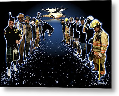 Welcoming The Fallen Metal Print by Rose Borisow