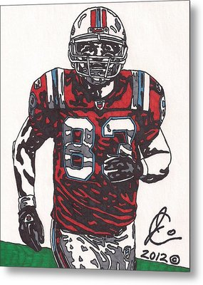 Wes Welker Metal Print by Jeremiah Colley