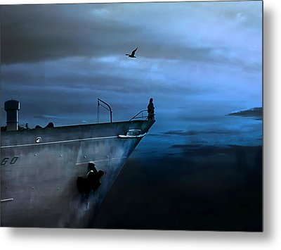 West Across The Ocean Metal Print by Joachim G Pinkawa