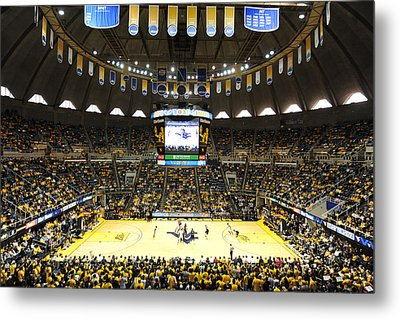 West Virginia Mountaineers Wvu Coliseum Metal Print by Replay Photos