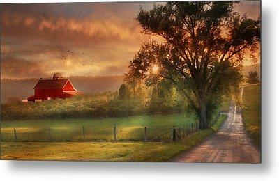 West Virginia Sunset Metal Print by Lori Deiter