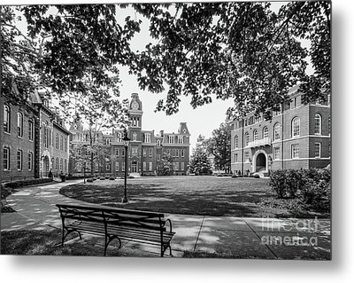 West Virginia University Woodburn Circle Metal Print by University Icons