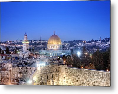 Western Wall And Dome Of The Rock Metal Print by Noam Armonn
