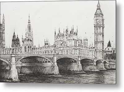 Westminster Bridge Metal Print by Vincent Alexander Booth