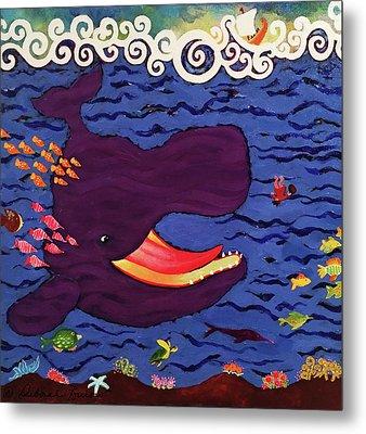 Whale Metal Print by Deborah Burow