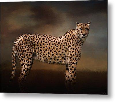 What You Imagine - Cheetah Art Metal Print by Jordan Blackstone