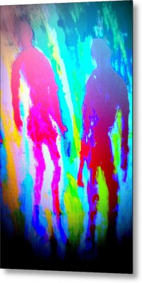 whatever the rumours say, I didnt   Metal Print by Hilde Widerberg