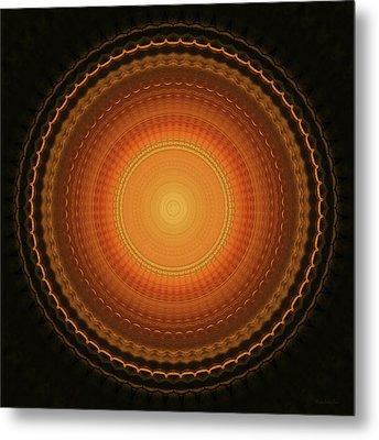 Wheel Kaleidoscope Metal Print by Wim Lanclus