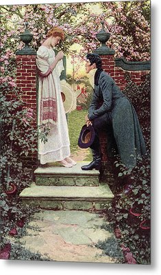 When All The World Seemed Young Metal Print by Howard Pyle