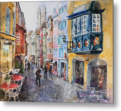 When In Zurich Metal Print by Catalina Rankin