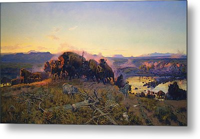 When The Land Belonged To God Metal Print by Charles Russell