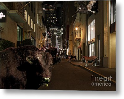 When The Lights Go Down In The City Metal Print by Wingsdomain Art and Photography