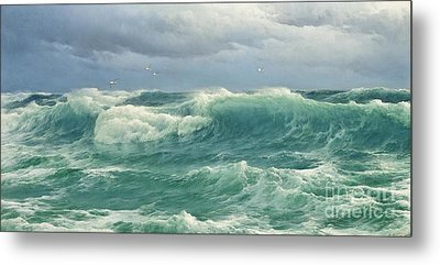 When The Wind Blows The Sea In Metal Print by Celestial Images