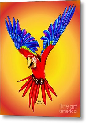 Where Was I Suppose To Land Metal Print by Sheryl Unwin