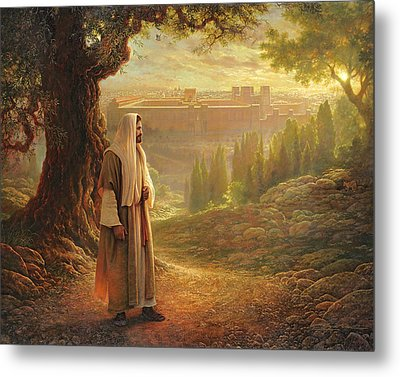 Wherever He Leads Me Metal Print by Greg Olsen