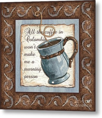 Whimsical Coffee 1 Metal Print by Debbie DeWitt