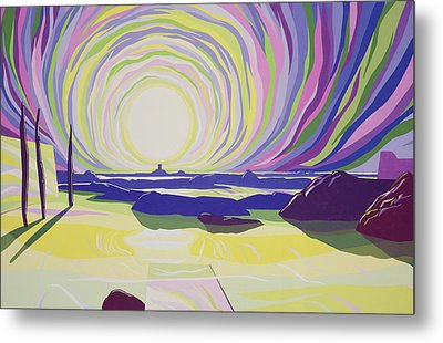 Whirling Sunrise - La Rocque Metal Print by Derek Crow