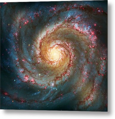 Whirlpool Galaxy  Metal Print by The  Vault - Jennifer Rondinelli Reilly
