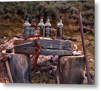 Whiskey And Guns Metal Print by Leland D Howard