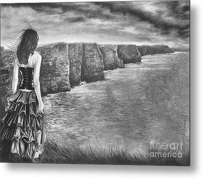Whisper - The Cliffs Of Moher Metal Print by Gary Rudisill