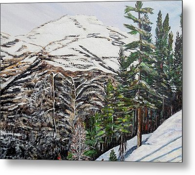 Whispering Pines Metal Print by Marilyn  McNish