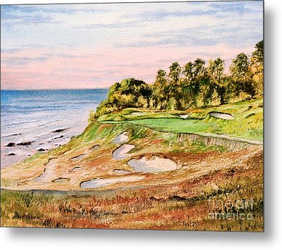 Whistling Straits Golf Course 17th Hole Metal Print by Bill Holkham