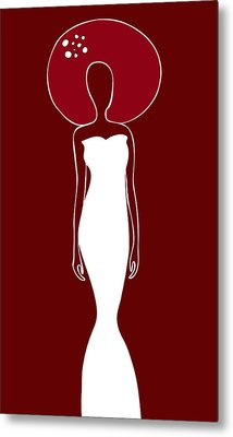 White Dress Metal Print by Frank Tschakert