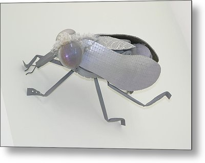 White Fly Metal Print by Michael Jude Russo