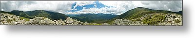 White Mountains Pano Metal Print by Sebastian Musial