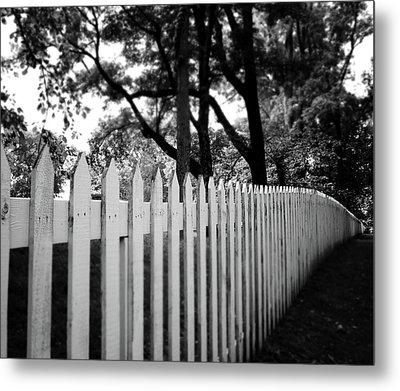 White Picket Fence- By Linda Woods Metal Print by Linda Woods