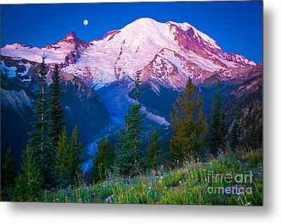 White River Predawn Metal Print by Inge Johnsson