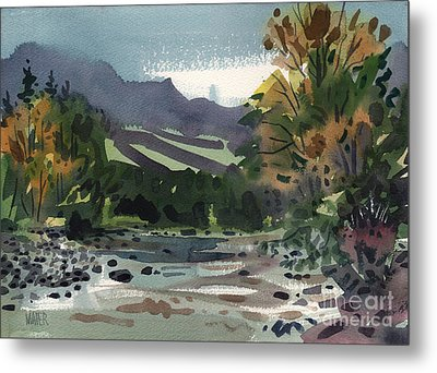 White Water On The White River Metal Print by Donald Maier