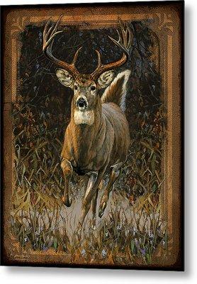 Whitetail Deer Metal Print by JQ Licensing