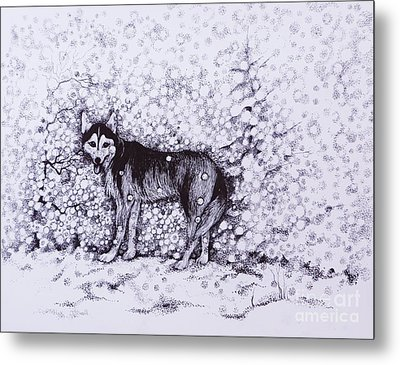 Who Likes Snow Day Metal Print by Anna  Duyunova