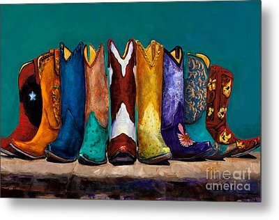 Why Real Men Want To Be Cowboys 2 Metal Print by Frances Marino