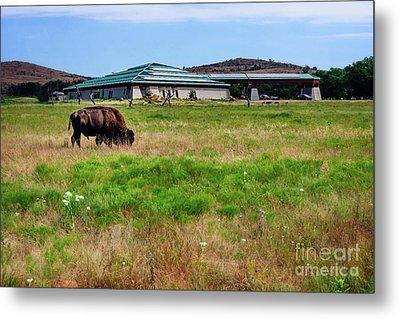 Wichita Mountain Wildlife Reserve Welcome Center I Metal Print by Tamyra Ayles