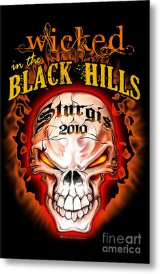 Wicked In The Black Hills - Sturgis 2010 Metal Print by Michael Spano